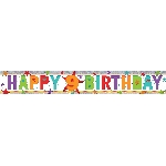 Banderin Happy 9th Birthday Holographic Foil 2.7m