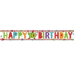 Banderin Happy 10th Birthday Holographic Foil 2.7m