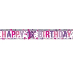 Banderin Happy 16th Birthday Holographic Foil 2.7m