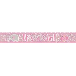 Banderin It's a Girl Holographic Foil 2.7m