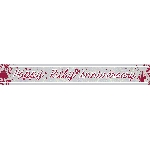 Banderin Ruby Anniversary Holographic Foil 2.7m