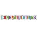 Banderin Congratulations Holographic Foil 2.7m