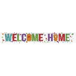 Banderin Welcome Home Holographic Foil 2.7m