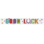Banderin Good Luck Holographic Foil 2.7m