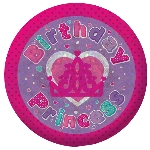 Chapa Birthday Princess Holographic 5.5cm