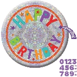 Chapa Happy Birthday Add an Edad Holographic 15cm