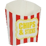 Caja Chip n Sticks Scoop Red & White