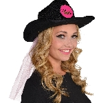 Gorro Hen Party Cowboy Hat with Veil