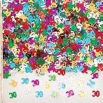 Confeti Number 30 Multi Colour Metallic 14g