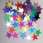 Confeti Jumbo Stars Multi Colour Metallic  14g