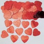 Confeti Hearts Red Jumbo Mettallic 14g
