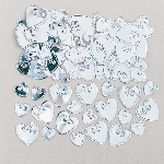 Confeti Loving Hearts Silver Embossed Metallic 14g