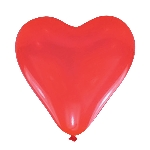 GLOBO LATEX pk5 Red Hearts medium