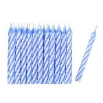 24 Velas Azul/stripe