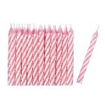 24 Velas Rosa/stripe