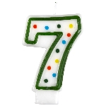 Vela Polka Dot Birthday Number 7 - 7.5cm