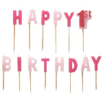 Vela 1st Birthday Girl Pink Pick