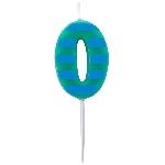 Vela Dots & Stripes Birthday Number 0 - 4.5cm