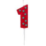 Vela Dots & Stripes Birthday Number 1 - 4.5cm
