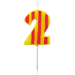 Vela Dots & Stripes Birthday Number 2 - 4.5cm