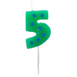 Vela Dots & Stripes Birthday Number 5 - 4.5cm