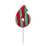 Vela Dots & Stripes Birthday Number 6 - 4.5cm