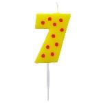 Vela Dots & Stripes Birthday Number 7 - 4.5cm