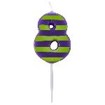 Vela Dots & Stripes Birthday Number 8 - 4.5cm