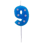 Vela Dots & Stripes Birthday Number 9 - 4.5cm