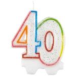 Vela Milestone Birthday 40th - 7.5cm