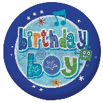 Chapa Happy Birthday Boy Holographic 5.5cm
