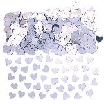Confeti Sparkle Hearts Silver Metallic 14g