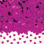Confeti Sparkle Hearts Hot Pink Metallic 14g