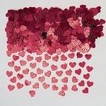 Confeti Sparkle Hearts Burgundy Metallic 14g