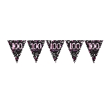 Banderin Pink Sparkling Celebration 100th Plastic Bunting 4m x 20cm