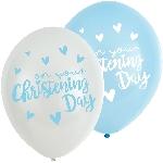 GLOBO LATEX:6pk 11'' Christening Blu