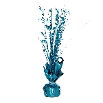 Peso Caribbean Blue Spray Centrepiece Balloon s 30cm