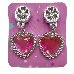 Juguetes Bulk Packed Heart Diamond Earrings