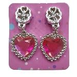 Juguetes Heart Diamond Earrings