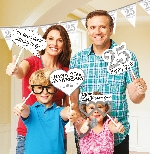 Photo Kit Sparkling Silver Anniversary Photo Props