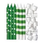 Vela Kiwi Green Dots & Stripes