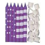 Vela New Purple Dots & Stripes