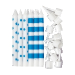 Vela Dots & Stripe - Br Azul