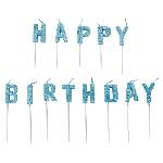 Vela Blue Happy Birthday Pick Glitter