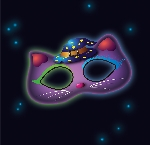 Juguetes Fancy Glow Cat Mask