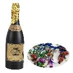 Confeti Multi Coloured Foil Champagne Bottles