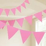 Banderin New Pink Plastic 10m