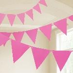 Banderin Bright Pink Plastic 10m