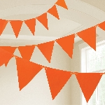 Banderin Orange Plastic 10m