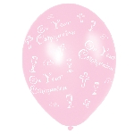 Globos Communion Printed Pink Latex Balloons 27.5cm